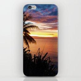 Fijian sunset iPhone Skin