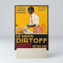 Vintage Placard le savon dirtoff. circa 1930 Mini Art Print