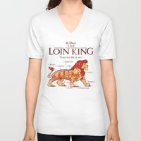 hakuna V-neck T-shirts featuring THE LOIN KING by BeastWreck