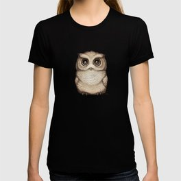 """The Little Owl"" by Amber Marine ~ Graphite & Ink Illustration, (Copyright 2016) T-shirt"