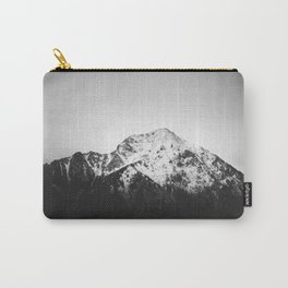 Black and white snowy mountain Carry-All Pouch