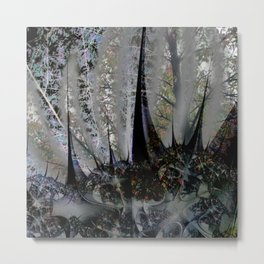 Frost in forest - Abstract illusion Metal Print