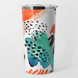 Watercolor Abstract Travel Mug