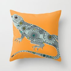 The Lizard Throw Pillow