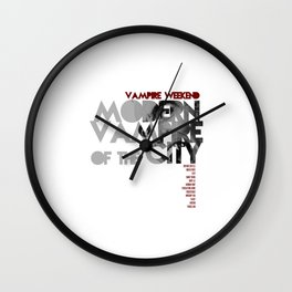 Vampire Weekend - Modern Vampires of the City / Album Cover Art LP Poster  Wall Clock