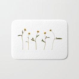 Five little flowers Bath Mat