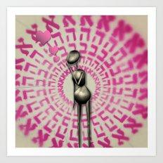 All U Need is LOVE Art Print
