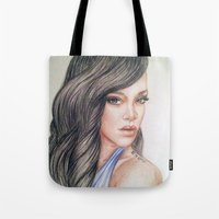 rihanna Tote Bags featuring RIHANNA by Hileeery