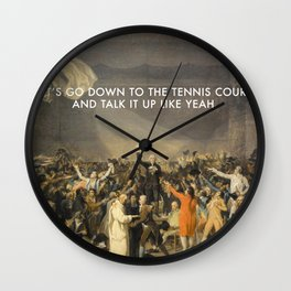 Tennis Court Oath Wall Clock