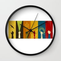 justice league Wall Clocks featuring Justice by Danny Haas