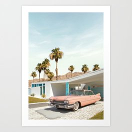 Palm Springs Classic Car Art Print