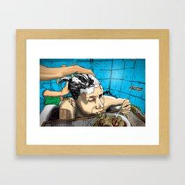Gummo eats in the tub Framed Art Print