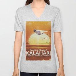 Kalahari Desert Adventure travel poster Unisex V-Neck