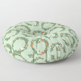Christmas Wreath Floor Pillow