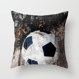 The soccer ball Throw Pillow