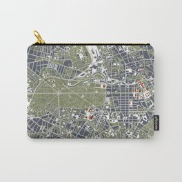 Berlin city map engraving Carry-All Pouch