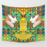 nouveau Wall Tapestries featuring Nouveau Girl by Steve W Schwartz Art