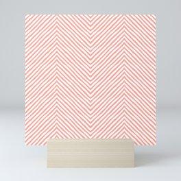 pink zigzag. retro Mini Art Print