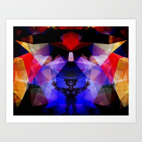 Geometry of The Sun Warrior Art Print