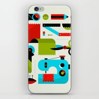sewing iPhone & iPod Skins featuring Sewing Kit by koivo