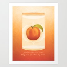 Peaches Art Print