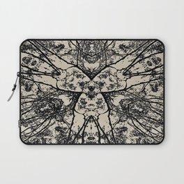 Black Flora No 1 Laptop Sleeve