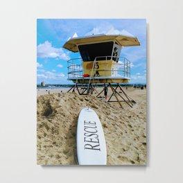 San Diego Beach Lifeguard Station Metal Print