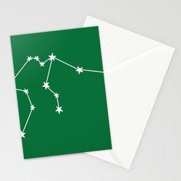 Aquarius (White & Olive Sign) Stationery Cards