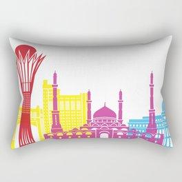 Astana skyline pop Rectangular Pillow