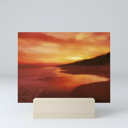 Autumn sunrise Mini Art Print