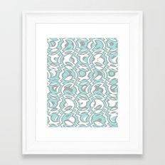 Minty Tumble Framed Art Print