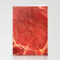 meat Stationery Cards featuring Meat by Niko Herrera