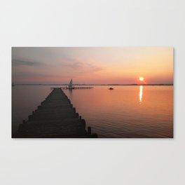 Evening at the lake in Germany Canvas Print
