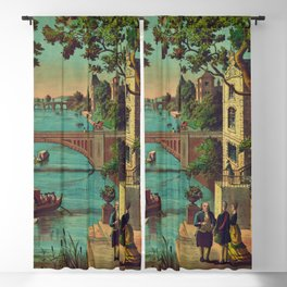 The Reception of Benjamin Franklin in France (1888) Blackout Curtain