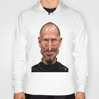 celebrity Hoodies featuring Celebrity Sunday ~ Steve Jobs by rob art | illustration