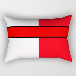 Team Color 6...red,white Rectangular Pillow