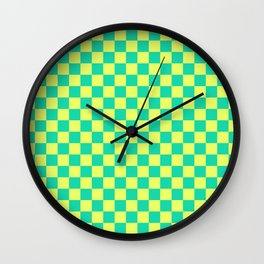 Checkered Pattern V Wall Clock