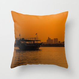 Doha Dhow Throw Pillow