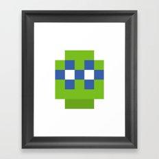 hero pixel green blue Framed Art Print