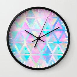 Pink pastel aztec pattern Wall Clock