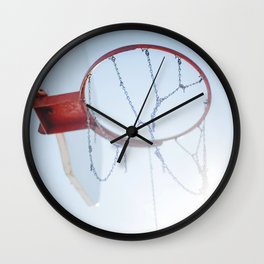 Hoop Dreams Wall Clock