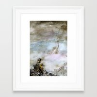 wall e Framed Art Prints featuring Wall-e by Louise Summers