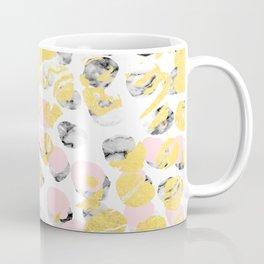 Stellan - Rose Marble Gold abstract art painting modern minimal love rosequartz pastel pink dorm Coffee Mug