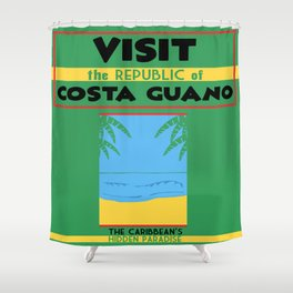 Vintage poster - Costa Guano Shower Curtain