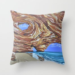 In The Cleft Throw Pillow