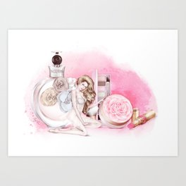 Touch of roses Art Print