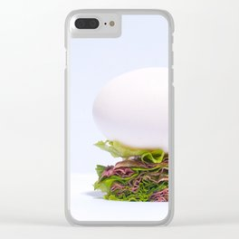 Egg's Balance Clear iPhone Case