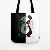 pandas Tote Bags featuring Pandas by Chocoeva