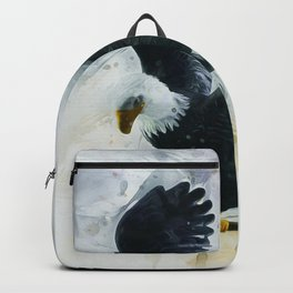 Bald Eagle Painting Backpack