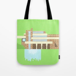 Iconic Houses - Fallingwater Tote Bag